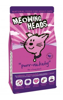 "MEOWING HEADS Purr-nickety ""Мурлыка"",корм для кошек с Лососем / Real Pet Food (Великобритания)"