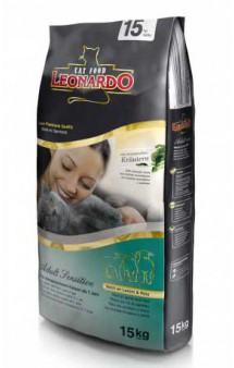 Leonardo ADULT Sensitive LAMB and RICE, корм для кошек склонных к аллергии / Bewital Petfood (Германия)