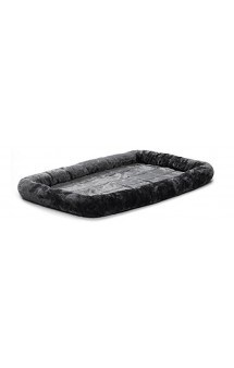 Quiet Time Pet Bed Plush Gray Лежанка меховая, серая / MidWest (США)