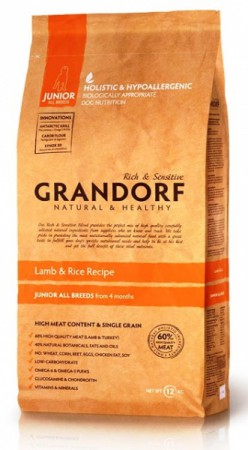 GRANDORF Lamb and Rice JUNIOR All Breeds,корм для щенков старше 4 месяцев / United Petfood Producers NV (Бельгия)