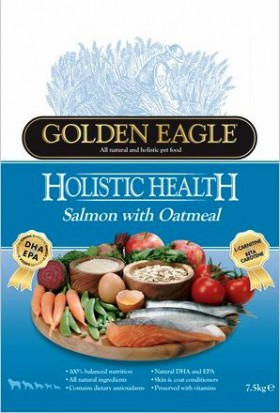 Golden Eagle Holistic Salmon & Oatmeal Formula 22/12,корм для собак с Лососем и Овсянкой / Golden Eagle Petfoods Co.Ltd (Великобритания)Golden Eagle Holistic Salmon & Oatmeal Formula 22/12