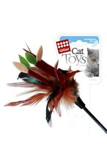 Дразнилка для кошек на стеке с листиками / GiGwi(Китай)