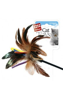 Дразнилка для кошек на стеке, цветная / GiGwi (Китай)