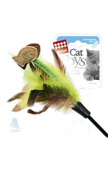 Дразнилка для кошек с рыбками на длинной палке / GiGwi(Китай)