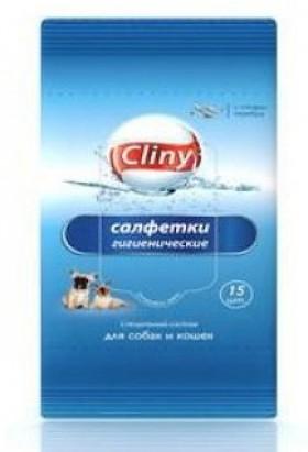 Салфетки влажные гигиенические для собак и кошек / Cliny (Россия)