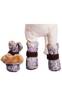 Ботиночки на меху для  маленьких собак / OSSO Fashion (Россия)