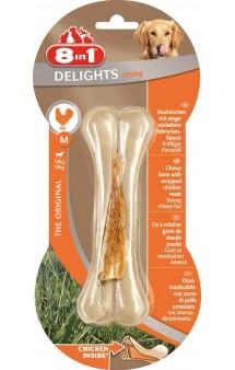 Сверхпрочная косточка Delights Bone Strong M, 14,5 см / 8in1 (Германия)