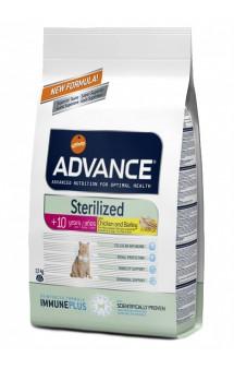 Sterilized +10 years Chicken and Barley Корм для пожилых стерилизованных кошек / Advance (Испания)
