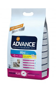 Senior Mini 8+, корм для пожилых собак малых пород, с Курицей / Advance (Испания)