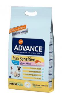 Sensitive Mini, корм для собак малых пород, с чувствительным пищеварением, с Лососем / Advance (Испания)