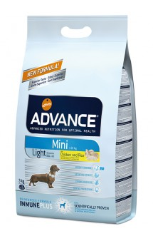 Light Mini корм для собак малых пород, контроль веса, с Курицей / Advance (Испания)