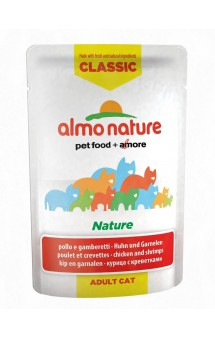 Classic Nature - Chicken&Shrimps,паучи с Курицей и Креветками / Almo Nature (Италия)
