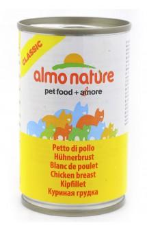 Classic Adult Cat Chicken Breast, консервы для кошек с Куриной грудкой / Almo Nature (Италия)