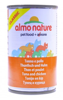 Classic Adult Cat Chicken&Tuna, консервы для кошек с Курицей и Тунцом / Almo Nature (Италия)