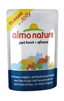 Classic Nature Jelly - Tuna&Sole, пауч Тунец и Камбала / Almo Nature (Италия)