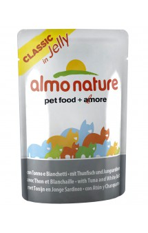 Classic Nature Jelly - Tuna&White Bait, пауч Тунец с Сардинками в желе / Almo Nature (Италия)