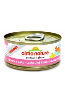 Legend Adult Cat Salmon and Chicken, консервы для кошек, с Лососем и Курицей / Almo Nature (Италия)
