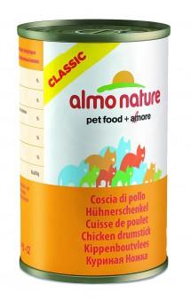 Classic Adult Cat Chicken Drumstick, консервы для кошек Аппетитные Куриные Бедрышки / Almo Nature (Италия)