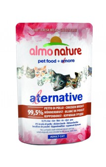 Alternative Adult Cat Chicken Breast, паучи для кошек Куриная грудка-99,5% / Almo Nature (Италия)