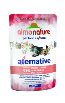 Alternative Adult Cat Salmon, паучи для кошек Лосось / Almo Nature (Италия)
