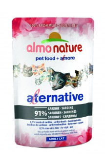 Alternative Adult Cat Sardines, паучи для кошек Сардины -91% / Almo Nature (Италия)
