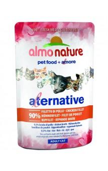 Alternative Adult Cat Chicken Fillet, паучи для кошек Куриное филе - 90% / Almo Nature (Италия)