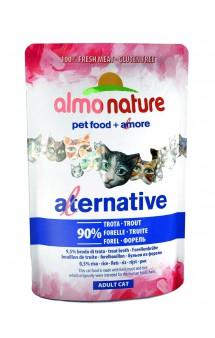 Alternative Adult Cat Trout, паучи для кошек Форель - 90% / Almo Nature (Италия)