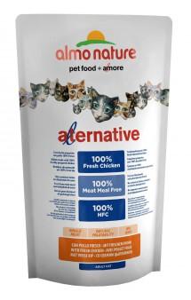 Alternative Adult Cat Chicken and Rice, корм для кошек со свежим Цыпленком -55% / Almo Nature (Италия)