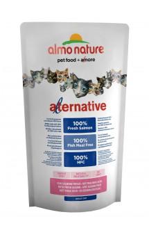 Alternative Adult Cat Salmon and Rice, корм для кошек со свежим Лососем -55% / Almo Nature (Италия)
