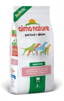 Medium and Salmon, корм с Лососем для собак средних пород / Almo Nature (Италия)