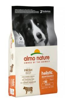 Medium, Beef and rice holistic, корм для собак с Говядиной и рисом / Almo Nature (Италия)