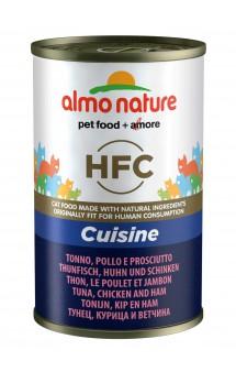 Classic Adult Cat Tuna&Chicken&Ham, консервы для кошек с тунцом, курицей и ветчиной / Almo Nature (Италия)