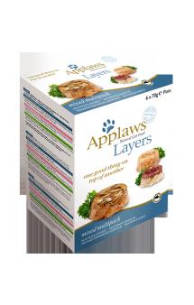 Mixed multipack topped Layers, набор консервов для кошек Ассорти в желе / Applaws (Великобритания)