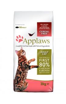 Adult Cat Chicken with Salmon, корм для кошек с Курицей и Лососем / Applaws (Великобритания)