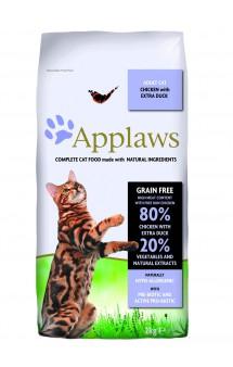 Adult Cat Chicken with Extra Duck, корм для кошек с Курицей и Уткой / Applaws (Великобритания)