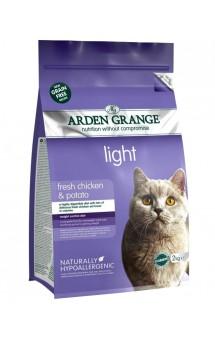 Adult Cat light fresh Chicken and Potato, диетический корм для кошек с Курицей и Картофелем / Arden Grange (Великобритания)