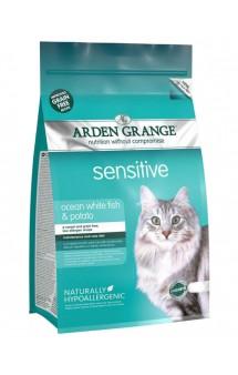 Sensitive Ocean White Fish and Potato, корм для чувствительных кошек, с Рыбой и Картофелем / Arden Grange (Великобритания)