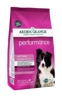 Performance with fresh chicken and rice, корм для активных собак с Курицей и Рисом / Arden Grange (Великобритания)