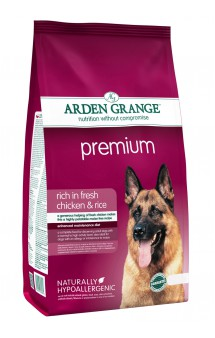 Premium rich in fresh Chicken and Rice, Премиум корм для собак с Курицей и Рисом / Arden Grange (Великобритания)