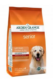 Senior with fresh chicken and rice, корм для пожилых собак с Курицей и Рисом / Arden Grange (Великобритания)