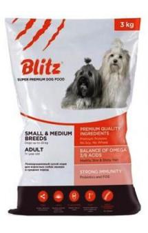 Blitz Adult Small and Medium Breeds, корм для собак мелких и средних пород / Provimi Petfood Rus