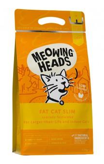 """MEOWING HEADS Fat cat Slim """"Худеющий толстячок"""", корм для кошек с избыточным весом, Курица и Лосось / Real Pet Food (Великобритания)"""