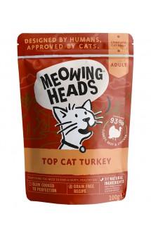 """MEOWING HEADS Top-Cat Turkey  """"Аппетитная индейка"""", Паучи для кошек с Индейкой / Real Pet Food (Великобритания)"""