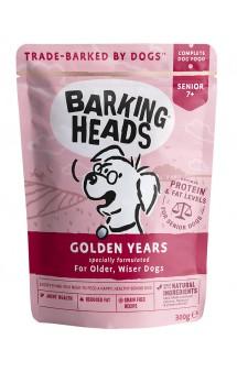 BARKING HEADS Golden Years, Паучи для пожилых собак с Курицей и Лососем / Real Pet Food (Великобритания)