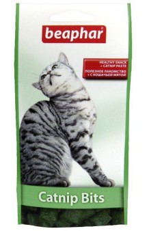 Подушечки Catnip Bits, лакомство для кошек / Beaphar (Нидерланды)