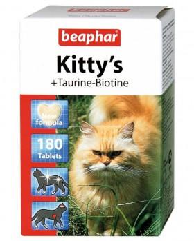Kitty's + Taurine + Biotine, витамины с Таурином  для кошек / Beaphar (Нидерланды)