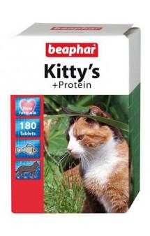 Kitty's + Protein, витамины для кошек, с протеином / Beaphar (Нидерланды)