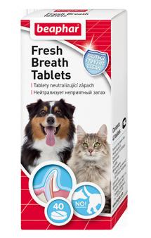 Fresh Breath Tablets, таблетки от запаха из пасти кошек и собак / Beaphar (Нидерланды)