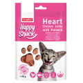 Happy Snack Heart Chicken Jerky with Pollock, нежные сердечки для кошек из Курицы и Трески / Beaphar (Нидерланды)