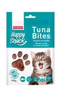 Happy Snack Tuna Bites, мягкие чипсы из Тунца для котят / Beaphar (Нидерланды)